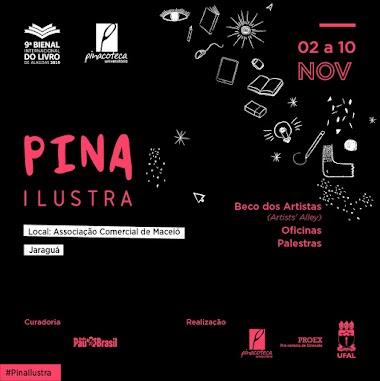 Pina Ilustra 2019: Pinacoteca Universitária leva para a Bienal a produção alagoana de ilustração e quadrinhos