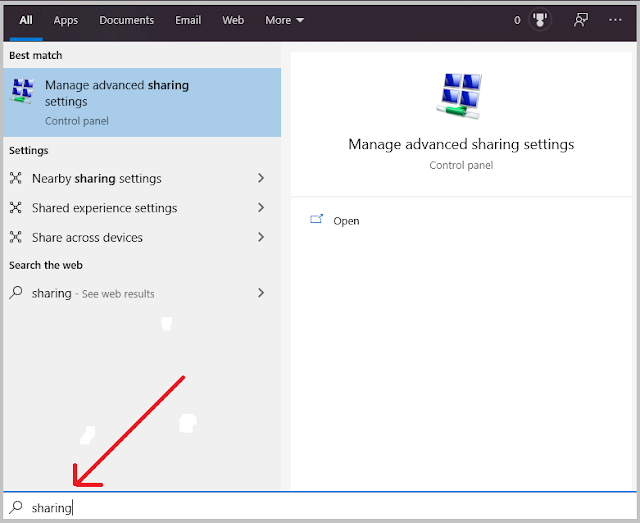 windows advanced sharing settings