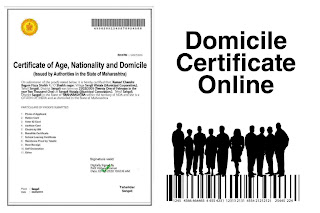 Domicile certificate, certificate of age, nationality and domicile