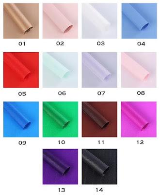 Kertas Buket Bunga / Flower Bouquet Wrapping Paper (Seri FLS Wave)