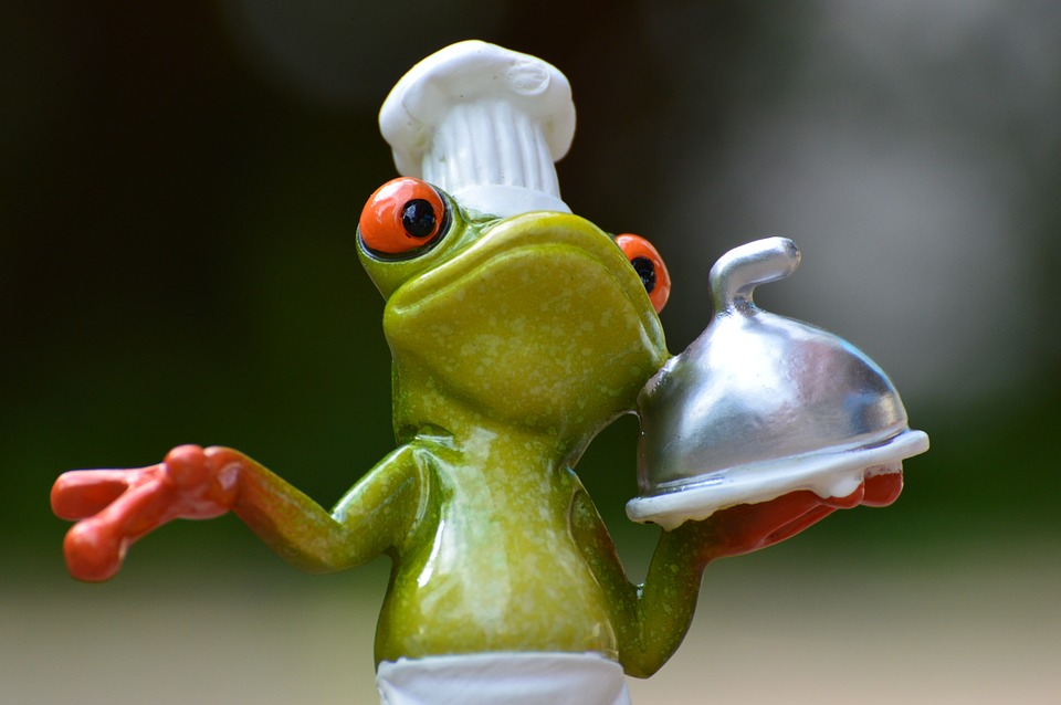Frog Chef Statue Holding Covered Dish Pixibay Image Showing Healthier Food Choice