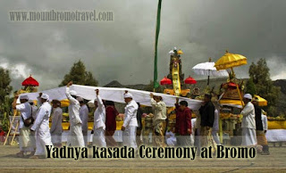 Yadnya kasada Ceremony at Bromo