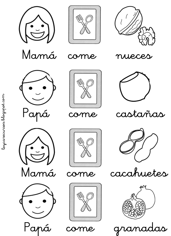 RECURSOS DE EDUCACIÓN INFANTIL: PICTOGRAMAS FRUTOS DEL OTOÑO