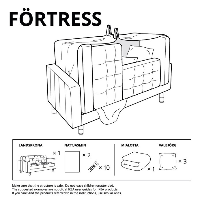 Fortress 6 IKEA Castle Ideas To Build Guide