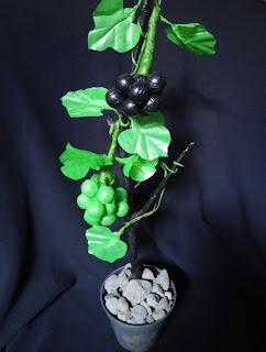 Bunga bonsai dari kresek bekas