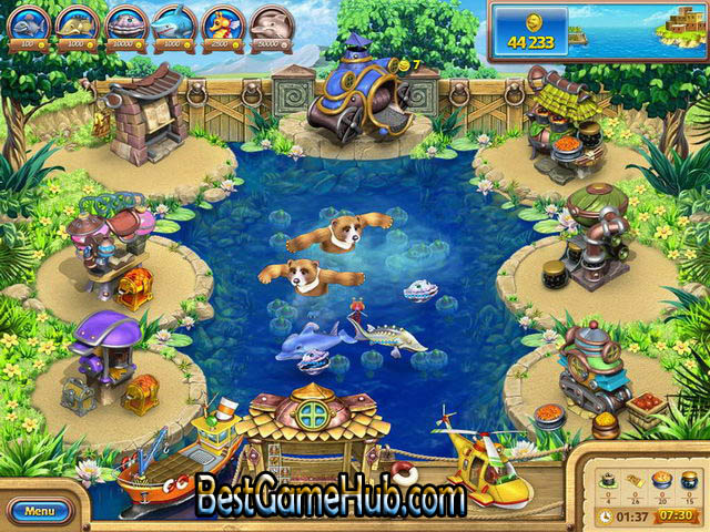 Farm Frenzy Gone Fishing High Compressed PC Game Free Download