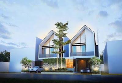 Rumah modern minimalis dengan atap pelana PT Prospera Jaya Group