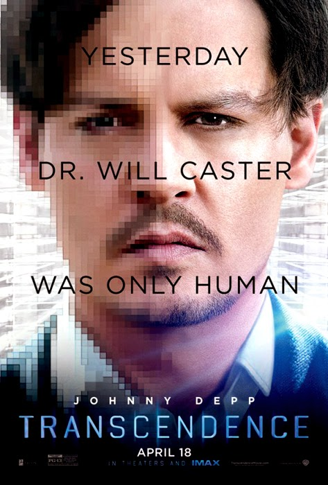 Poster Transcendence Movie 2014 - Johnny Depp