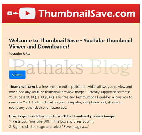 Thumbnail Save - YouTube Thumbnail Viewer and Downloader!, anil pathak, pathaks blog