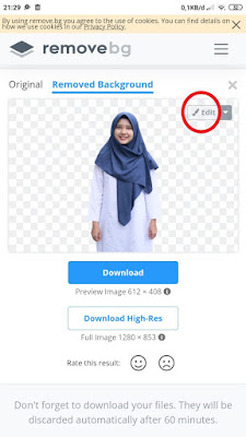 Edit Background Foto di HP Secara Online