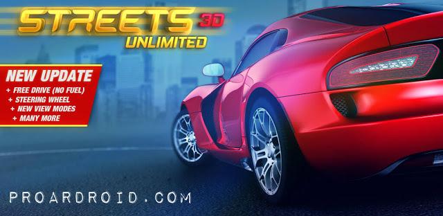 لعبة السباق Streets Unlimited 3D v1.09 مهكرة للأندرويد (اخر اصدار) logo
