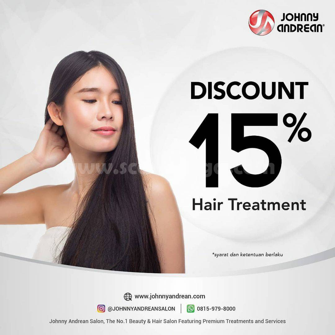Johnny Andrean Promo Discount 15% Hair Treatment