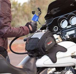 The ThirstyRock Hydration Tank Bag can keep you safe and comfortable while riding your motorcycle.
