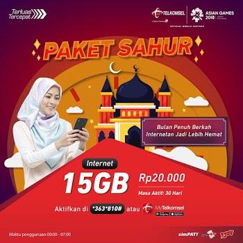 Cara Beli Paket Sahur Telkomsel