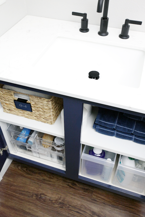 doubling up on under the sink storage space