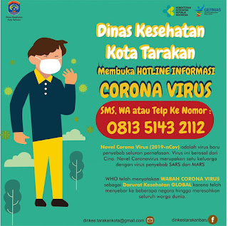 Hotline Informasi COVID-19 Tarakan SMS WA Telpon 081351432112 - Tarakan Info