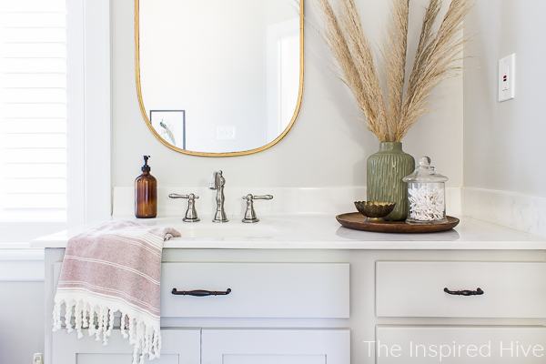 Modern traditional budget friendly bathroom makeover
