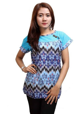Baju Batik Lengan Pendek Modern
