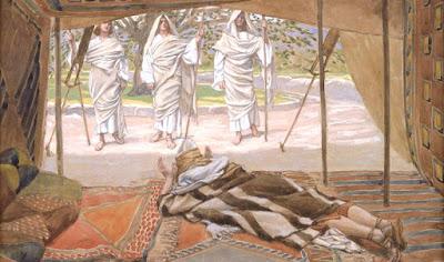 A visita de doi anjos e Jesus - código da Bíblia
