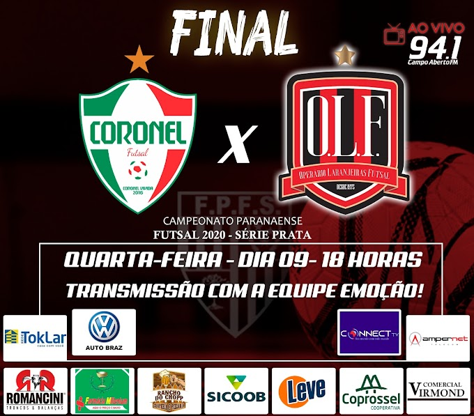 Operário Laranjeiras começa decidir hoje o título da Prata contra o Coronel Futsal