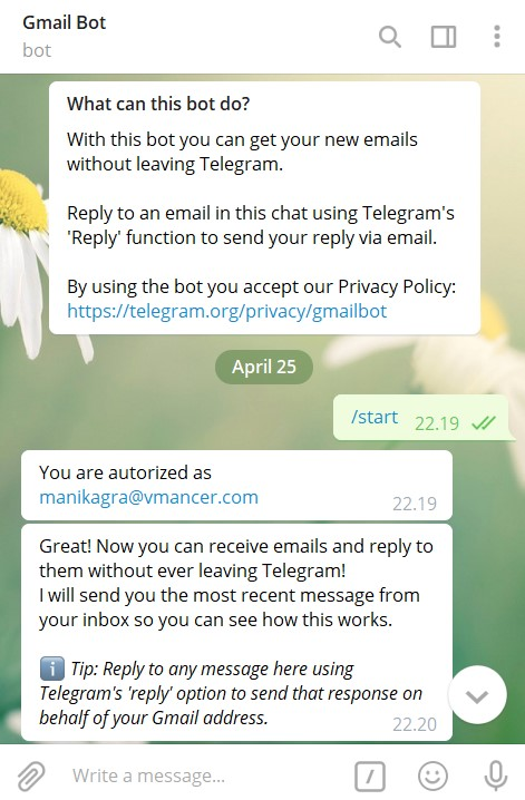 GMail Telegram Bot