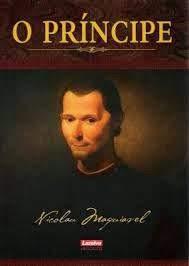 A foto mostra a capa do livro O Príncipe de Nicolau Maquiavel.