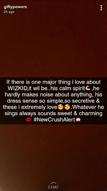 wp 1512465209712 - ENTERTAINMENT: BBN Gifty Publicize His Crush On Wizkid, Shades Davido