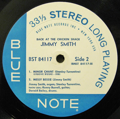 Jimmy Smith Blue Note Jazz Record Labels