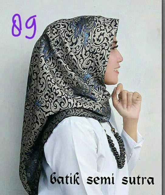 Jilbab Batik Sutera Terbaru