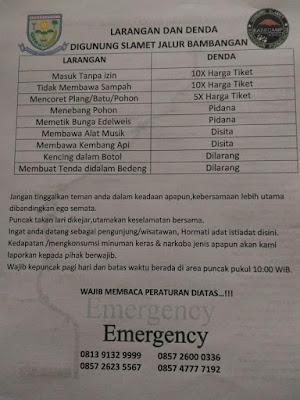 Hens Rental Mobil Purwokerto berbagi info bambangan gunung slamet