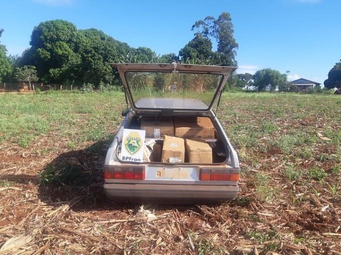 BPFron apreende veículo carregado com cigarros contrabandeados em Guaíra-PR