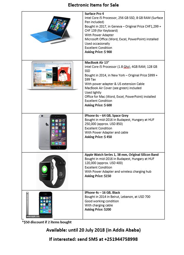 Electronic Items for Sale | ኢትዮ ሸመታ - Ethio Shemeta