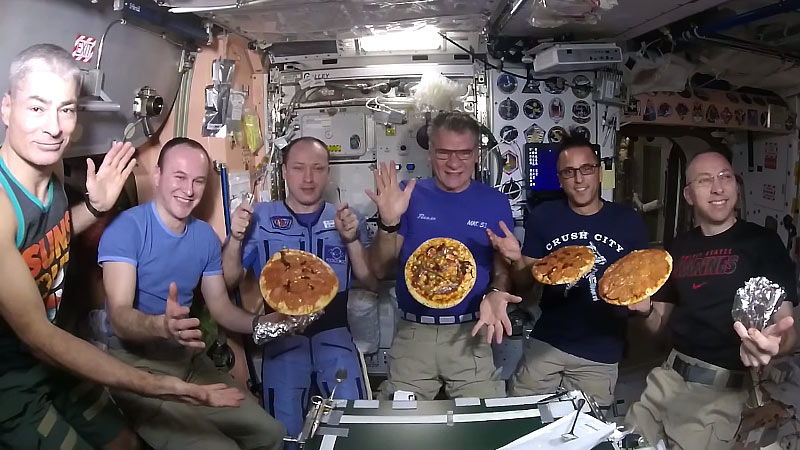 pizza night in space
