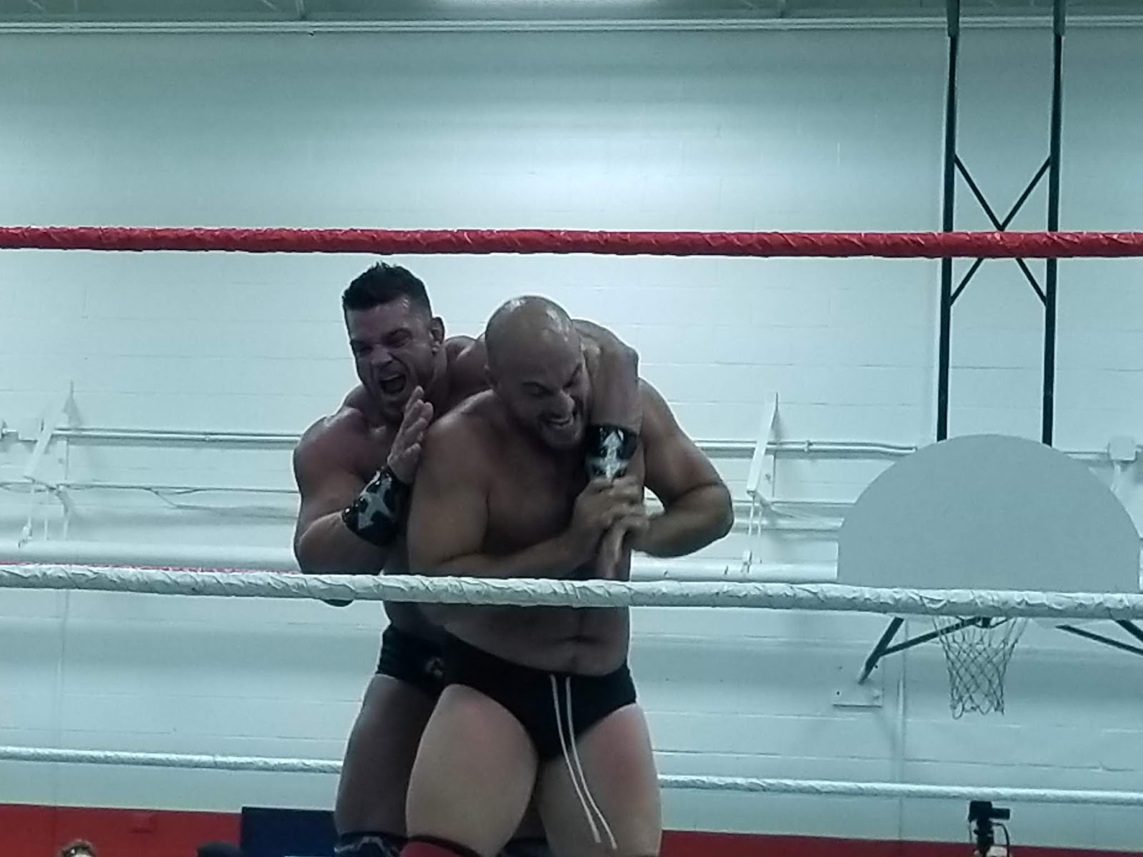 Dirty wrestling action
