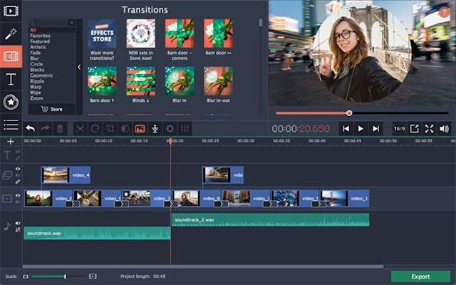 Movavi Video Editor Clips FR