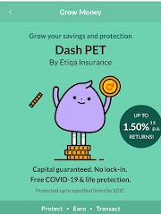 Earn up to 1.5%* p.a. on your savings effortlessly with Dash PET