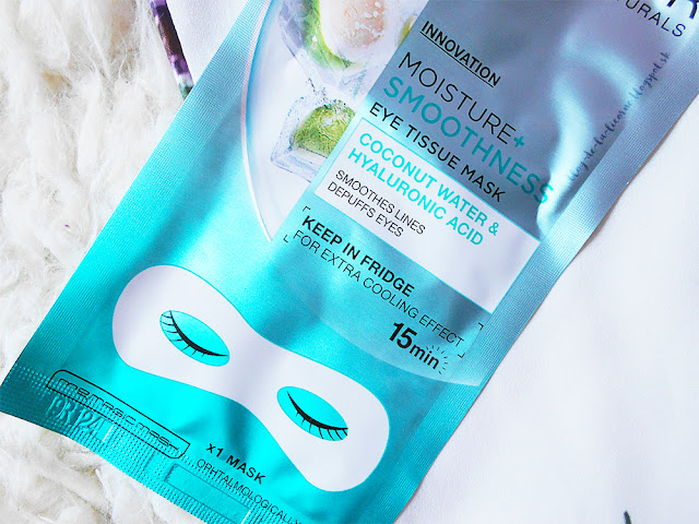 Garnier Skin Naturals Moisture+ Smoothness vyhladzujúca očná maska s hydratačným účinkom