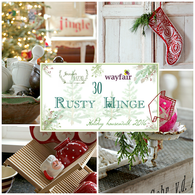 Christmas Home Tour 2016  ~ Rusty Hinge