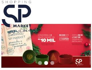 Promoção SP Market Natal 2019 Vales-Viagem 10 Mil Reais e Cerâmicas Natalinas