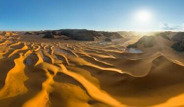 Temperatures in the Sahara can reach as