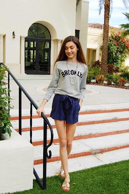 teen style, jcrew sweatshirt, brooklyn sweatshirt, sweatshirt and pearls, kate bartlett