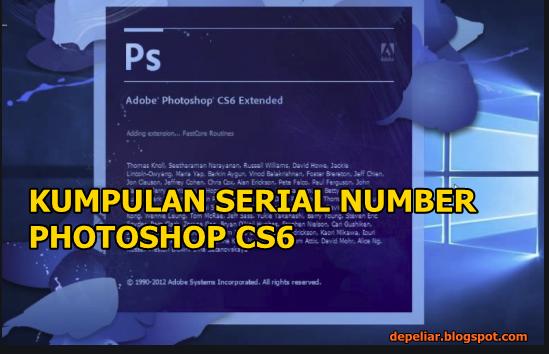 50 Serial Number Adobe Photoshop CS6 2019-2020 Gratis Work 100%