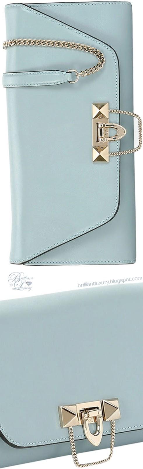 Brilliant Luxury ♦ Valentino Garavani Demilune leather chain clutch bag