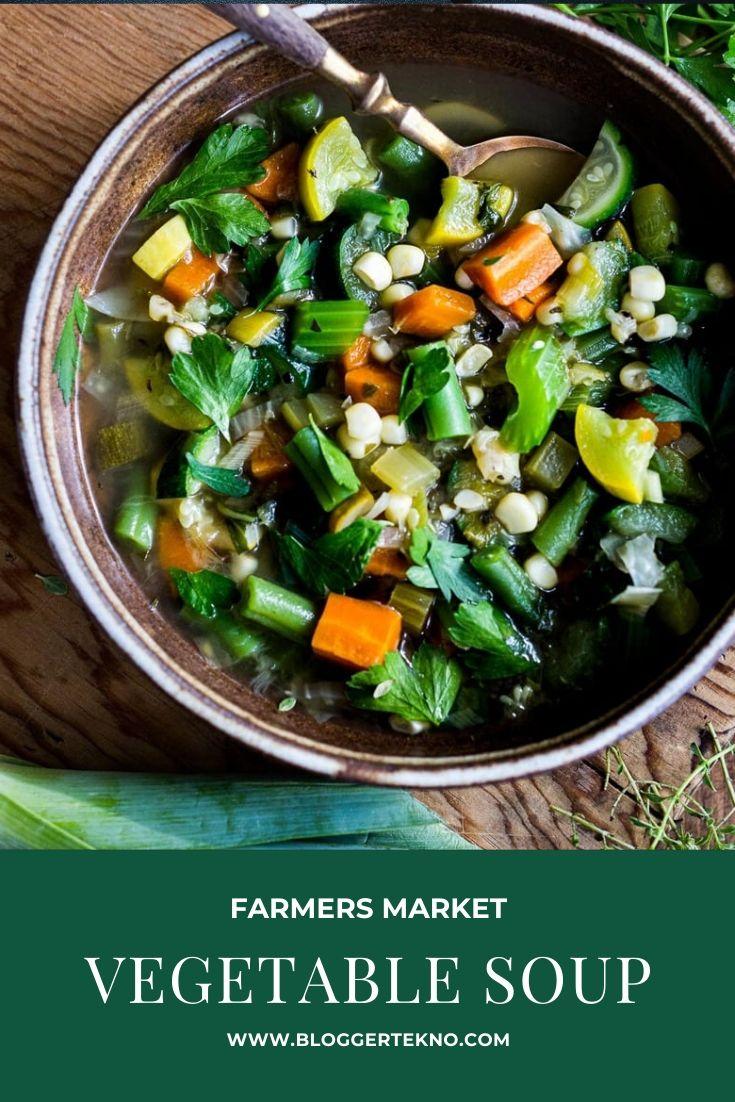 farmers market vegetable soup