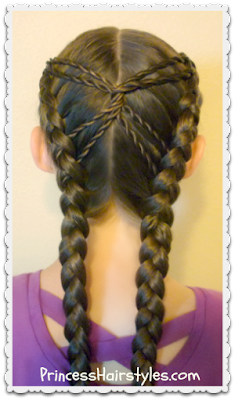 Hourglass braid hair tutorial
