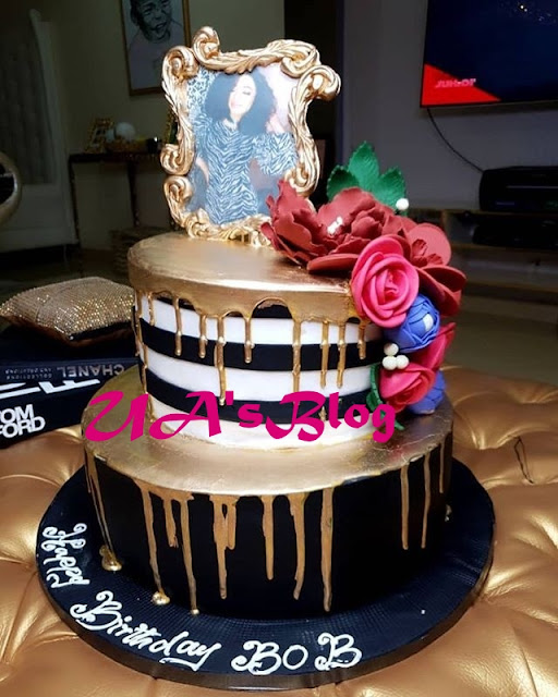 Tonto Dikeh Gifts Bobrisky Cake Ahead Of His Birthday (Photo)