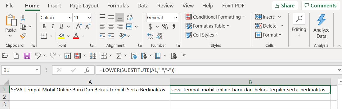 Konversi Teks Di Excel