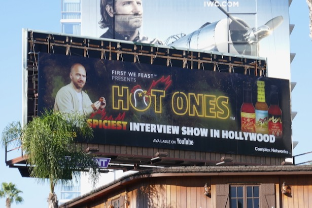 Hot Ones YouTube series billboard