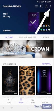 Dodatkowe opcje w Samsung Themes