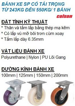 Bánh xe đẩy chịu tải trung bình Colson Caster www.banhxedayhang.net